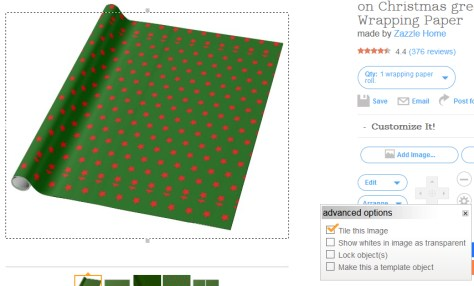 Ugly tiling Zazzle wrapping paper
